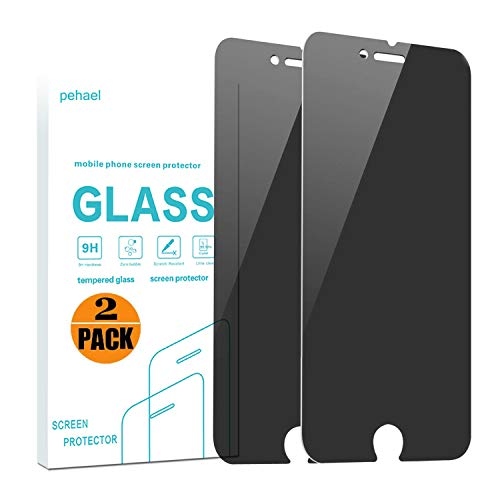 pehael Privacy Screen Protector, Anti Spy Tempered Glass, 2.5D Curve Edge, Compatible with iPhone 8 Plus iPhone 7 Plus[2-Pack](5.5 inch)
