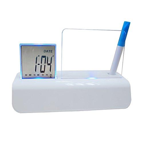 Hankcares LED Motion Message Digital Table Clock,Desktop Digital Clock for Office,Classroom,Hotel