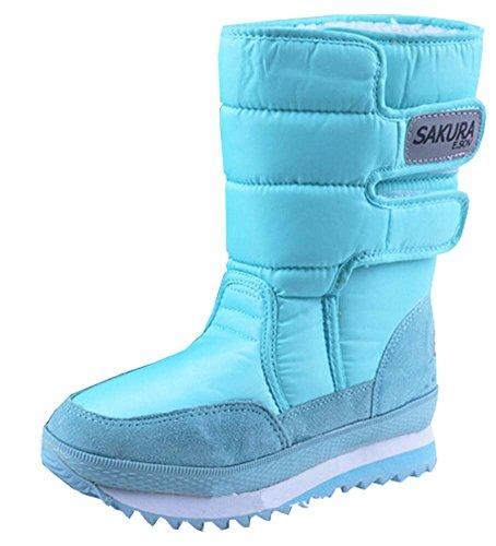 2015 neue Stiefel mit hohen Beinschuhe Plattformfrauen Schneeschuhe wasserdichte Stiefel Schneeschuhe Azure