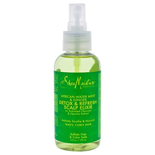 Shea Moisture African Water Mint & Ginger Detox & Refresh Scalp Elixir for Unisex, 4 Ounce