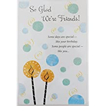 "So Glad We're Friends - Happy Birthday Greeting Card ""Enjoy Your Day!"" (Unisex)"