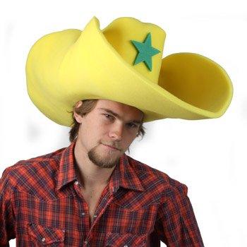 Amazon.com  Clown Antics Super Size 50 Gallon Cowboy Hats - Yellow (28
