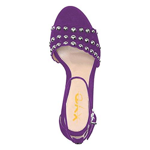 Purple rhinestone strappy heels ☆ BEST VALUE ☆ Top Picks
