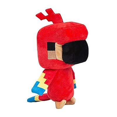 "JINX Minecraft Happy Explorer Parrot Plush Stuffed Toy (Red, 7"" Tall)"