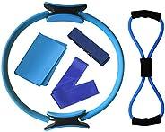 Lixada Pilates Ring Magic Circle Resistance Exercise Fitness Ring Dual Grip Handles 19 Inch Yoga Equipment Set