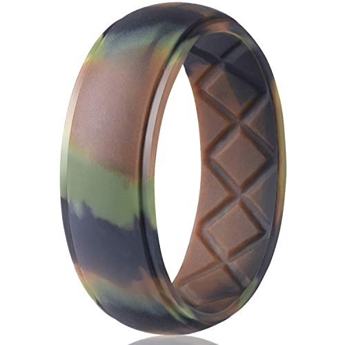 Egnaro Silicone Wedding Ring for Men, Particularly Breathable Mens