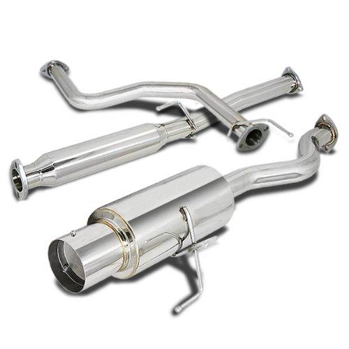 - For Honda Civic Catback Exhaust System 4 inches Tip Muffler - 3 Door Hatchback EK