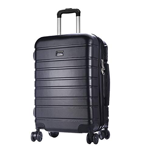 WING Premium Hardside Spinner Luggage with Built-In Lock 20 Inch Carry On Luggage Lightweight Travel Suitcase