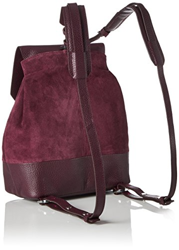 Royal RepubliQ Damen Bucket Petite Suede Rucksack, 11x26x20 cm Rot (Bordeaux)