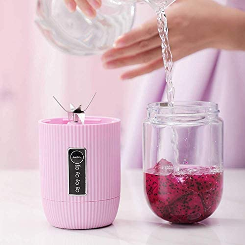 zyl Blender Smoothie Maker Mini Cup USB Rechargeable Mixer & Food Robot for Juice Shakes and Smoothie Mini Blender Portable pour Juice Shakes Et Smoothie (Rose)