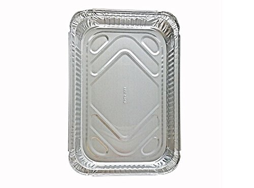 Handi-Foil 4 lb. Oblong Aluminum Entrée Dinner Food Storage Pan w/Board Lid (pack of 25)
