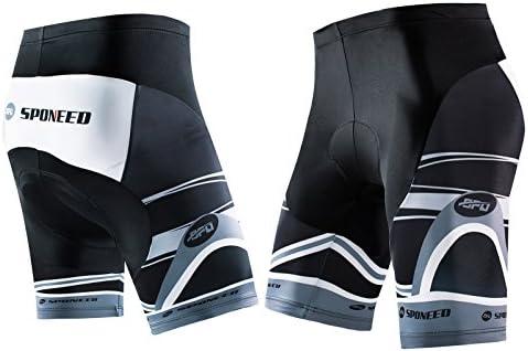 sponeed pantalones cortos de ciclo Shorts Medias bicicleta acolchada Road Riding