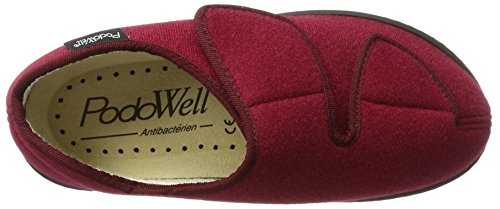 Podo Well Unisex Adulti Athos High Slippers Red (bordo)