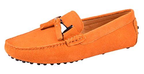Moc Driving Tassel Mens Santimon Leather Shoes Pendant Shoes Loafers Yellow Nubuck WpqURHH06