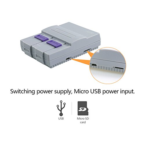 SNES Case for Raspberry Pi 3 B, 2 and B+,with Functional POWER and RESET Button and HeatSink,Retro Games Super NES Classic Case by Easyget (Image #3)