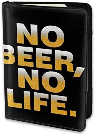 No Beer No Life ビール パスポートケース メンズ レディース パスポートカバー パスポートバッグ 携帯便利 シンプル ポーチ 5.5インチ PUレザー スキミング防止 安全な海外旅行用 小型 軽便