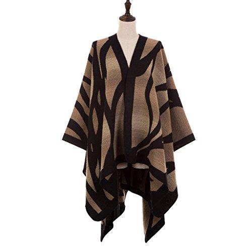 EUty Women's Large Blanket Tassel SpringAutumnWinter Warm Geometry Pattern Wrap Shawl