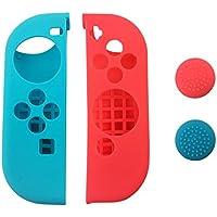 Nintendo Switch Funda Silicona Compatible Con Nintendo Switch (Roja Y Azul)