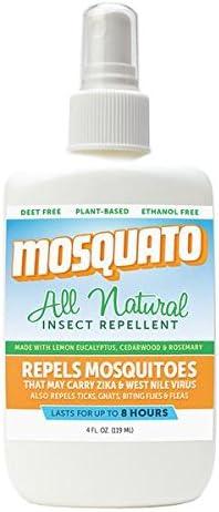 All Natural Deet libre y etanol libre Spray repelente de insectos ...