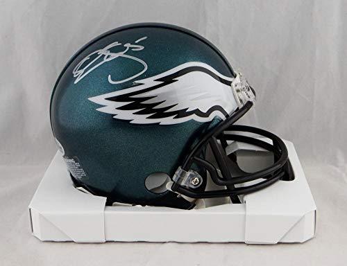 Donovan McNabb Autographed Philadelphia Eagles Mini Helmet - Beckett Auth Silver