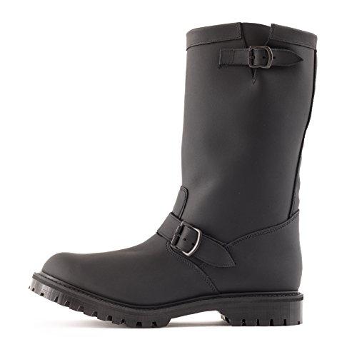 Gripfast 11 Ingenjör Boot I Fet Svart Läder Görs I Brittiska Svart