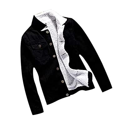 Ximandi Womens Autumn Winter Denim Jacket Vintage Long Sleeve Button Jeans Coat
