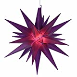 "14"" Lighted Purple Moravian Star Hanging Christmas Light"