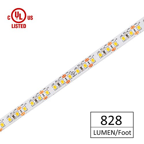 h Density UL-Listed, HitLights Cool White 2835 LED Light Strip - 5000K, 360 LEDs, 10 Feet- 828 Lumens & 6 Watts/Foot - 12V DC Tape Light ()