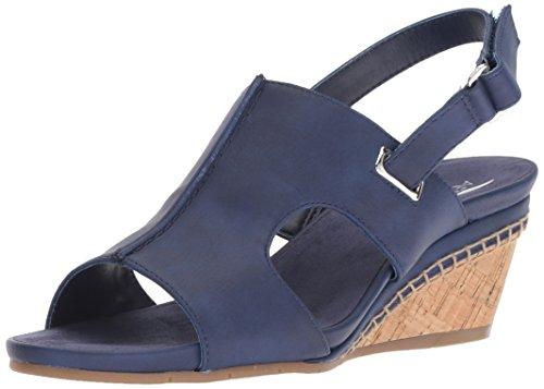 Shoes Ladies Aerosoles (Aerosoles Women's Shortcake Sandal, Blue, 8.5 M US)