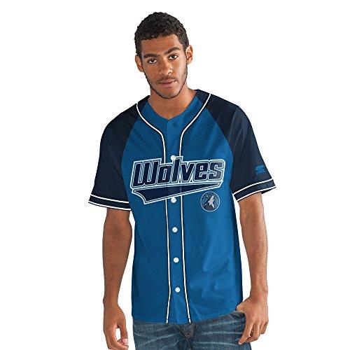 a Timberwolves Men's The Player Baseball Jersey, XX-Large, Blue ()