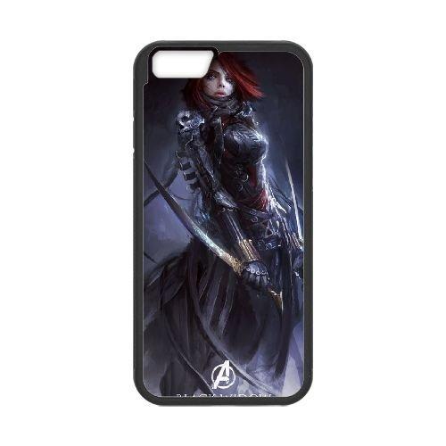 Avengers Age Of Ultron Black coque iPhone 6 Plus 5.5 Inch Housse téléphone Noir de couverture de cas coque EBDOBCKCO11975