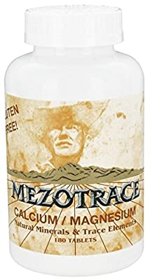 Mezotrace Calcium/Magnesium and Trace Elements, 180 Tablets