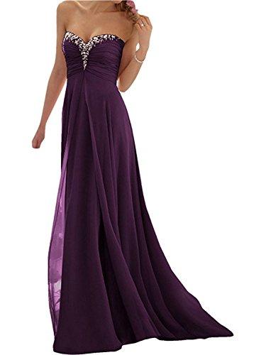 de Largo de la Dama Fiesta Partido A JAEDEN Vestido de Vestido de Uva Vestido Gasa Tirantes Honor Elegante de Mujer Sin Vestido Noche Line Awxq8UZ