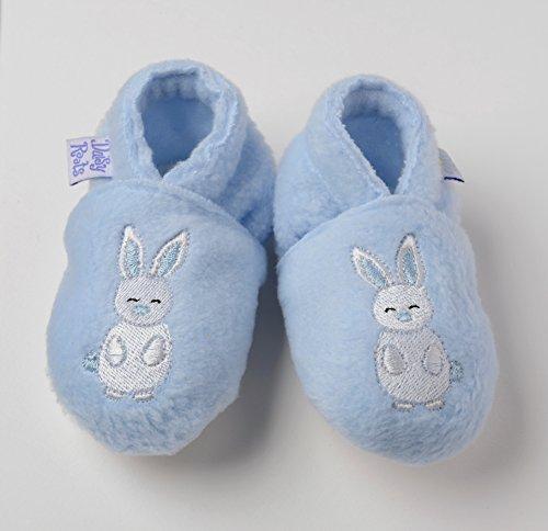 Daisy Roots–poco D de color azul bordado conejo (6–