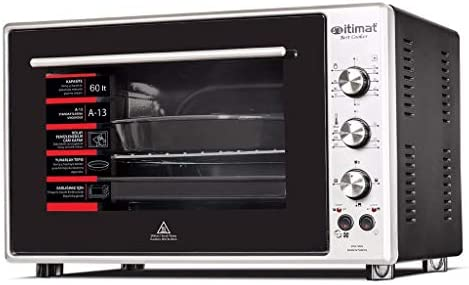 Itimat - Horno de doble cristal (60 L), color negro: Amazon.es: Hogar