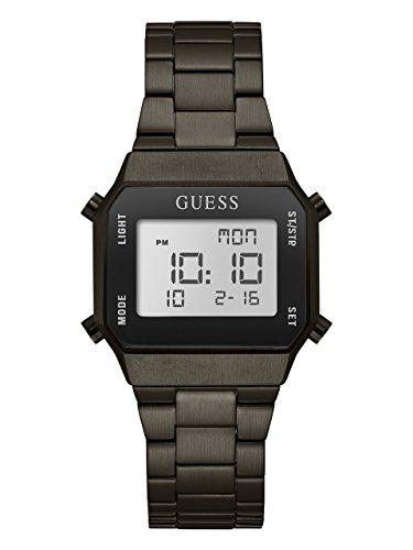 Guess Men's Stainless Steel Digital Casual Watch, Color Black (Model: U1039G2) ()