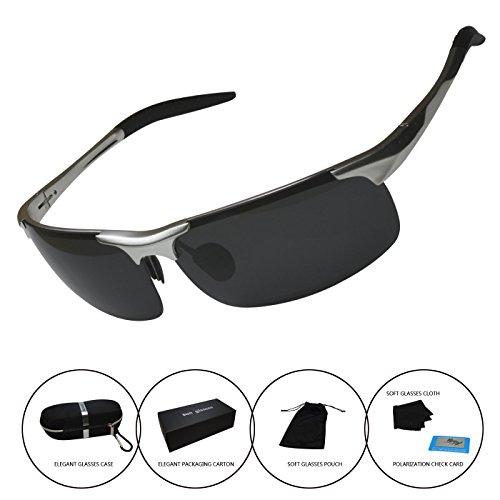 Men's Polarized Sunglasses Driving Riding Fishing Unbreakable Frame Fashion - Channel Sun Glasses