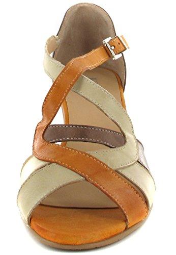 Taille Grande orange Mules Chaussures En Matelas marron Fidji femme twTx8w