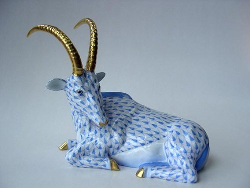 Herend Hand Painted Porcelain Antelope