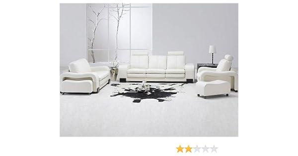 amazon com tosh furniture white leather living room set sectional rh amazon com