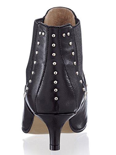 Alba Moda Stiefelette mit Nietenverzierungen Schwarz