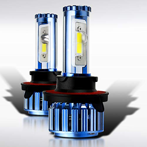 Autozensation Super White Automotive Cree 6000k LED Conversion Kit Headlight Bulbs H13 9008