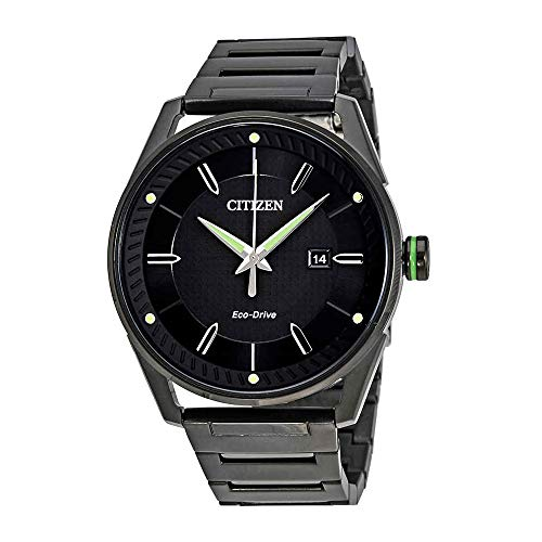 Citizen Men's Eco-Drive Black And Green Watch