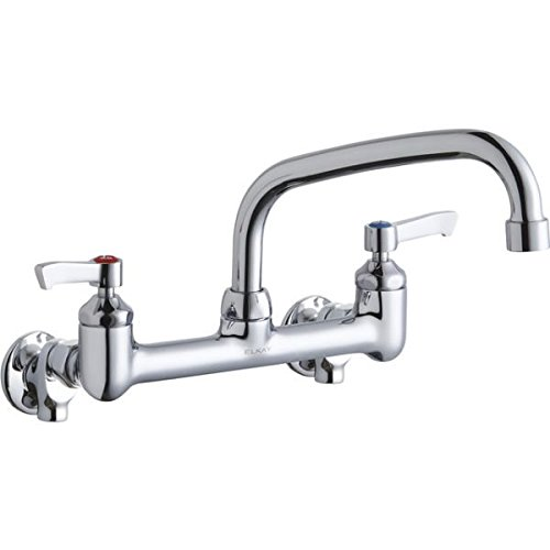 Dual Arc Tube (Elkay LK940AT08L2H Chrome Finish Solid Brass Faucet with 8