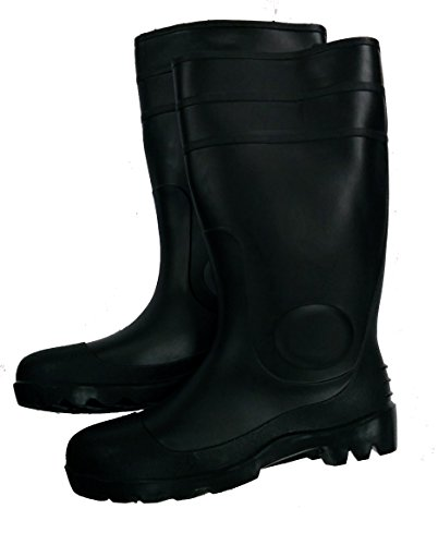 Herco 16'' Black Rubber Rain Work Boots - Men's Size 10 by Unknown