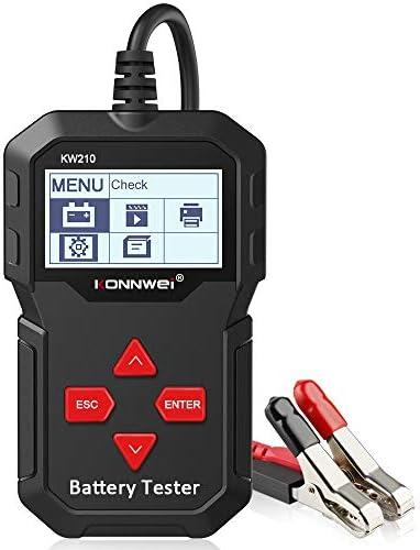 ANCEL BA201 12V 100-2000 CCA Automotriz Probador de Bater/ía Motor de Arranque Alternador Sistema de Carga Analizador Digital Herramienta de Prueba autom/ática Negro