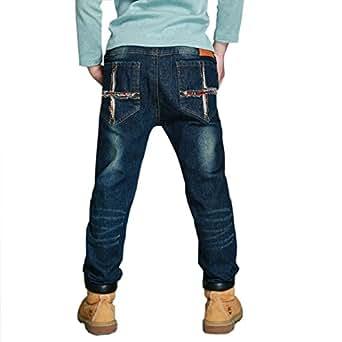 DIIMUU - Pantalones Vaqueros de Vaquero para niños de 5 a 9 años para Primavera-otoño