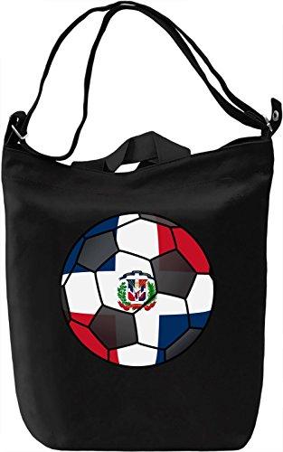 Dominican Rep Football Borsa Giornaliera Canvas Canvas Day Bag| 100% Premium Cotton Canvas| DTG Printing|