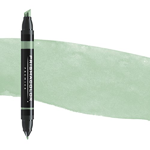 Prismacolor Double-Ended Marker, Broad and Fine Tip, PM140 Celadon Green (3552)