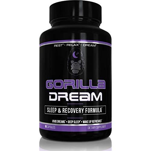 Gorilla Dream Premium Sleep Aid - Nootropic Infused Comprehensive Sleep & Recovery Supplement - GABA, Melatonin, Valerian Root, Magnesium, L-Theanine, Mucuna Pruriens Extract & More - 90 Capsules
